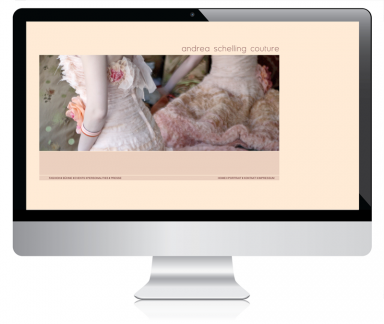 Andrea Schelling Couture Webdesign