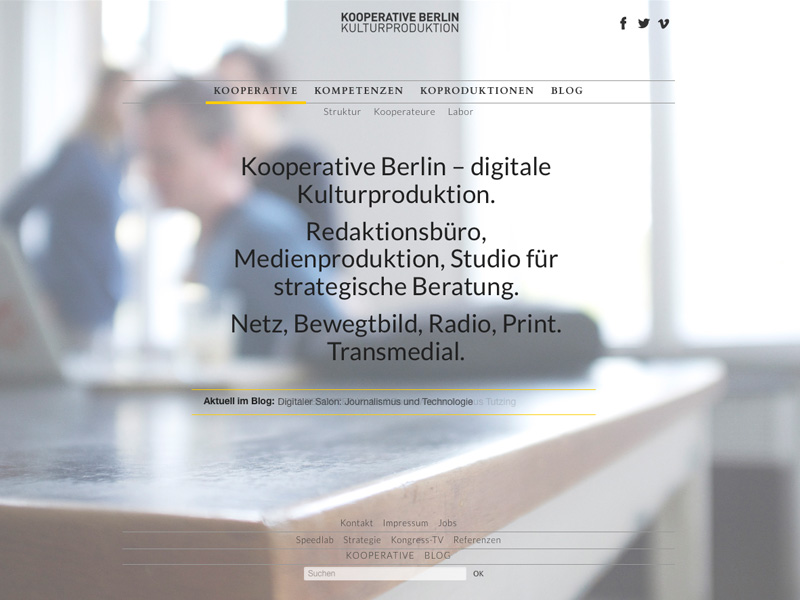 Kooperative Berlin Webdesign, Marta Ricci Design