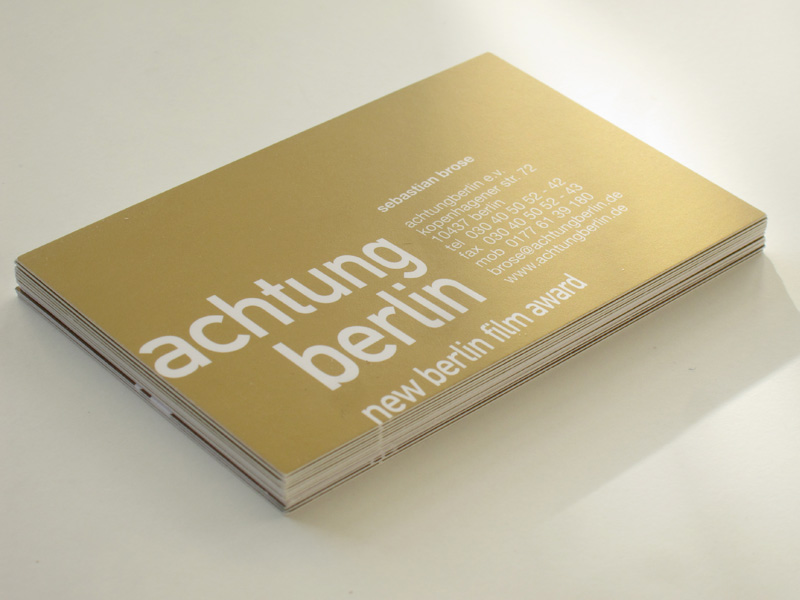 Achtung Berlin Logo Visitenkarte Marta Ricci Design
