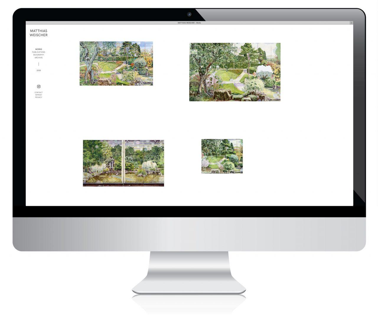 matthias weischer: webdesign marta ricci